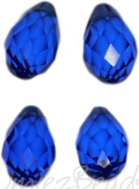 04343 Glaskraal druppel Donker blauw 4 stuks