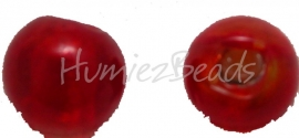 02930 Glaskraal zilverfoil rond Rood 10mm