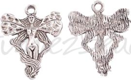 03490 Bedel fee Antiek zilver (nikkelvrij) 23mmx19mmx2mm; gat 2mm