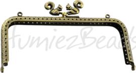 Tas-0003 Tasbeugel Antiek brons 150mmx65mmx11mm 1 stuks