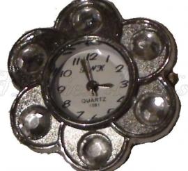 00249 Horloge bling Metaalkleurig/Chrystal  1 stuks