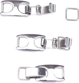 04418 Haaksluiting  Metaalkleurig (Nikkelvrij) 45mmx9mmx3mm 1 stuks