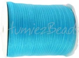 ORG-018 Organzalint Licht blauw 6mm 7 meter
