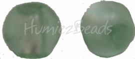 02921 Glaskraal zilverfoil rond Lichtgroen 10mm
