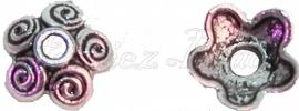 01071 Kralenkap krul Antiek zilver (Nikkelvrij) 3mmx10mm 12 stuks