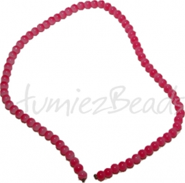 03470 Glaskraal streng (±40cm) jelly Roze 6mm 1 streng