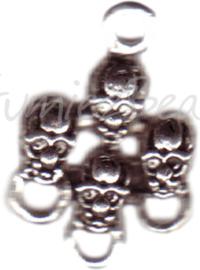 00157 Verdeler doodshoofden Antiek zilver