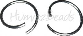 04009 Ringetjes zware kwaliteit Metaalkleurig (Nickel vrij) 16mmx1,5mm  ±16 stuks