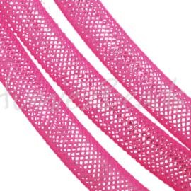 P-0405 Plastic netdraad Roze 4mm 1 stuks