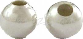 00642 Spacer rond Zilverkleurig (Nikkelvrij) 3,2mm ±100 stuks