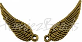01889 Bedel vleugel Antiek goud (Nickel vrij) 16mmx5mm 11 stuks