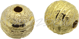 01236 Stardust kraal Goudkleurig 10mm; gat 1,2mm 4 stuks