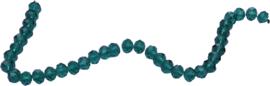 01428 Glaskraal imitatie swarovski faceted Abacus streng (±20cm) Groen 7mmx10mm 1 streng