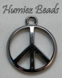 02149 Bedel peace teken Zwart 28mmx24mm