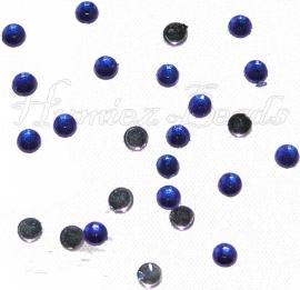 01450 (B) Plaksteen acryl Blauw en paars (Mix) 3mm 25 stuks