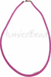 Silk-0010 Seidenkordel Halskette Violett 1 stück