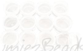 OP-0003 Set van 12 opberg doosjes Transparant 30mmx17mm