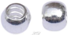 03179 Pandorastijl kraal Schroefdraad Zilverkleurig 6x7mm; gat 4mm 2 stuks