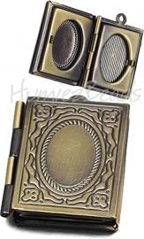 02054 Hanger fotoboek Antiek brons 26mmx19mmx5mm; inner 15mmx9,5mm 1 stuks