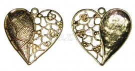 01403 hanger hart Goudkleurig (Nikkelvrij) 47mmx46mm