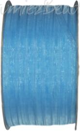 ORG-0306 Organzalint Licht blauw 3mm 50 meter