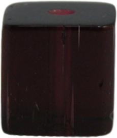 01773 Glaskraal vierkant Donker paars 8mm 1 streng (±30cm)
