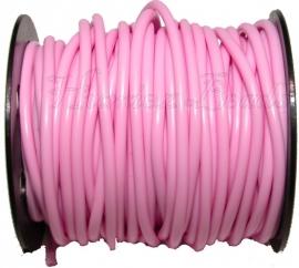 R-4006 Kautschukband hohl Pink 4mm; loch 1,5mm 1 meter