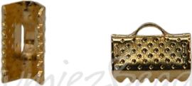 01132 Bandklem Goudkleurig (Nikkelvrij) 10mmx7mm 9 stuks