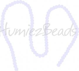 03983 Glaskraal imitatie swarovski faceted Abacus streng ±40cm White Opal 4mmx6mm  1 streng