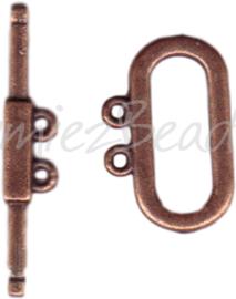 00240 Kapittelslot 2-draads Antiek koper 3 stuks