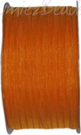 ORG-0308 Organzalint Licht oranje 3mm 50 meter
