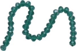 03438 Imitatie swarovski streng (±25cm) Groen 10mmx7mm 1 streng