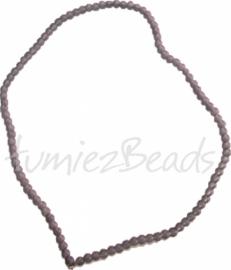03579 Glasperle strang (±40cm) frosted Grau 4mm 1 strang
