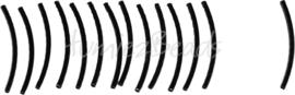 01320 Buiskraal ribbel Zwart 35mmx2mm; gat 1mm 14 stuks