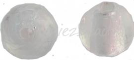 02920 Glasperle silverfoil rund Weiß 10mm 7 stück