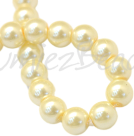 04020 Glasparel LemonChiffon 3-4mm; gat 0,5mm 1 streng ±30cm