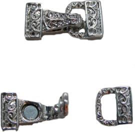 01578 Magneet-haakslot Tas Metaalkleurig (nikkelvrij) 28mmx14mm 1 stuks