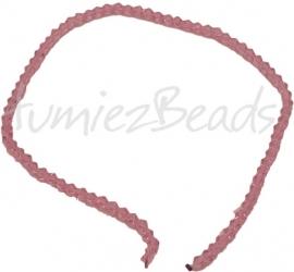 03205 Glaskraal Imitatie swarovski bicone Roze 4mm 1 streng
