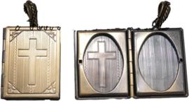 01510 Hanger fotodoosje Antiek brons 50mmx27mm 1 stuks