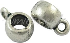 03833 Spacer met oog Antiek zilver (Nikkelvrij) 7 stuks
