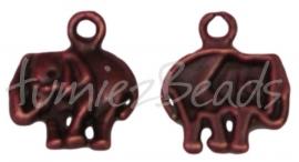 01577 Bedel olifant Antiek koper 15mmx13mm