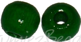 04293 Houten kraal gelakt Donkergroen 4mm ±195 stuks