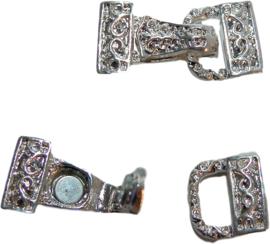 01609 Magneet-haakslot Tas Zilverkleurig (nikkelvrij) 28mmx14mm 1 stuks