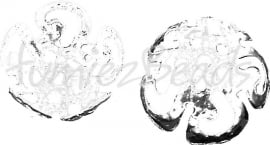 03748 Kralenkap filigraan Zilverkleurig 10mmx4mm; gat 1mm 15 stuks