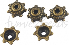03783 Kralenkap mini Antiek brons (Nikkelvrij) ±40 stuks