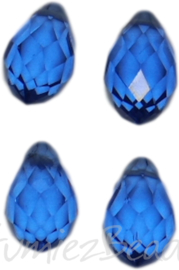 04345 Glaskraal druppel Blauw 4 stuks