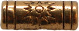 01779 Spacer tube zon Antiek goud 9mmx3mm 15 stuks