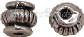 01133 Spacer geringde kruik Antiek zilver (Nikkelvrij) 15 stuks