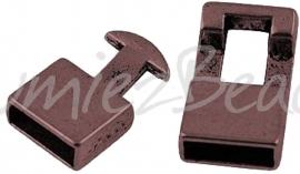 02703 Haakslot Antiek koper (Nikkelvrij) 22mmx12mmx6mm; gat 10mmx4mm 1 stuks