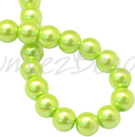 04028 Glasparel GreenYellow 3-4mm; gat 0,5mm 1 streng ±30cm